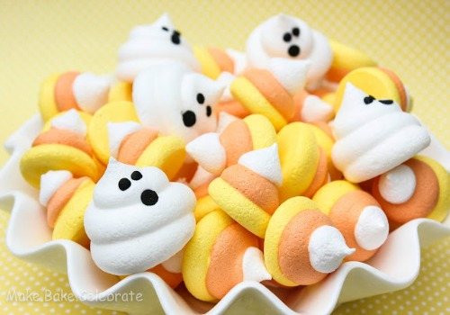 Candy corn meringues and lots of other fun candy corn inspired food ideas!