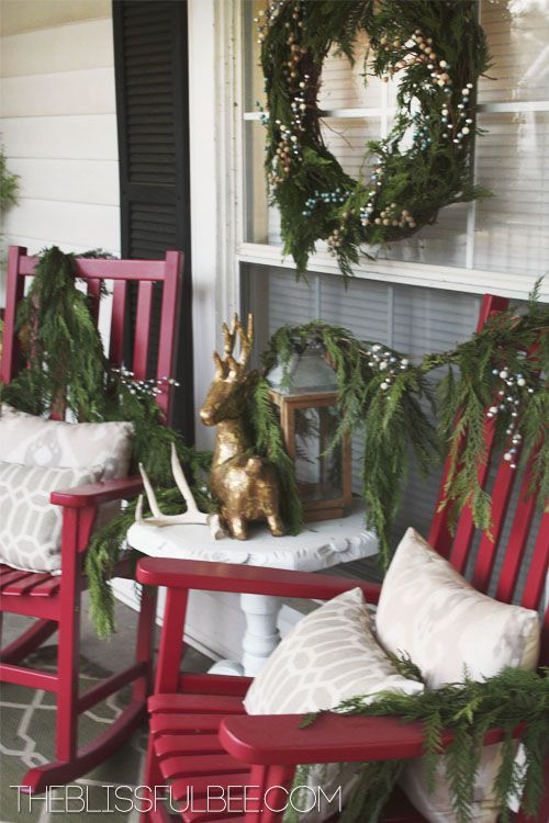 lots of diy christmas decorating ideas - Vintage Farmhouse Christmas Decor