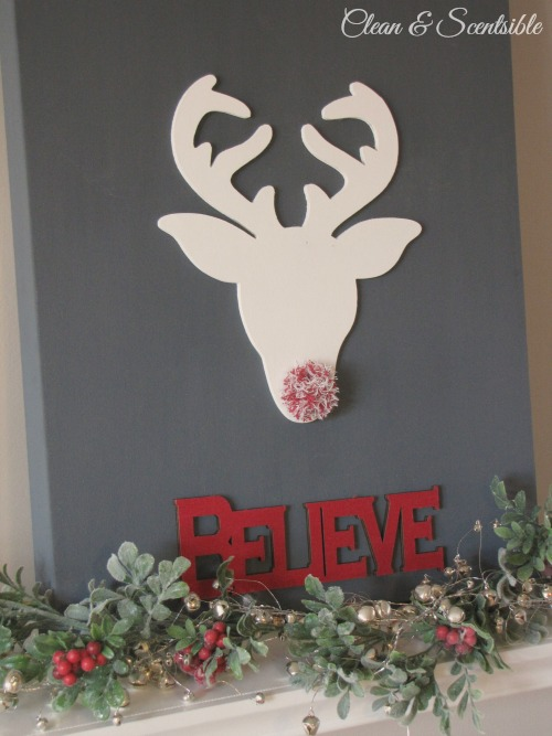Love this reindeer Christmas canvas!