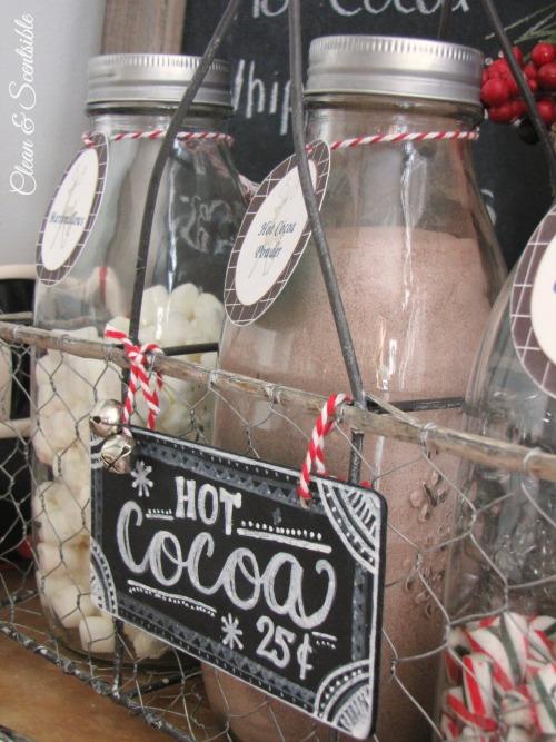 Candy Cane Hot Cocoa Bar Chalkboard