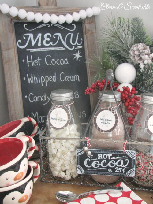 Love this candy cane hot cocoa bar!