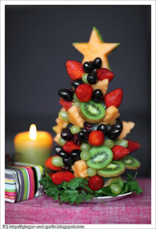Fruit Tree and 20 other fun and healthy Christmas food ideas.