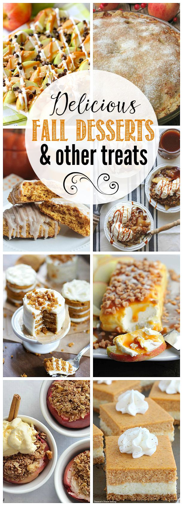 Delicious collection of fall dessert recipes. I love the apples, pumpkin spice, and other tastes of fall!