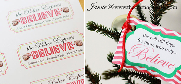 Polar Express Bell Favors & Printable Tags Design Dazzle