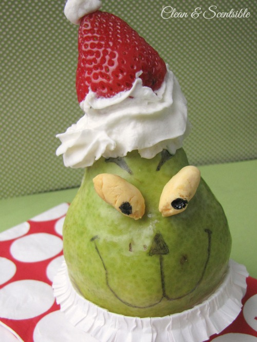 Fun and healthy Grinch snack idea!