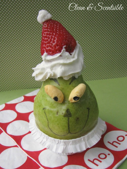 Fun and healthy Grinch snack!
