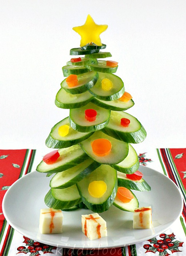 Cucumber Christmas tree.