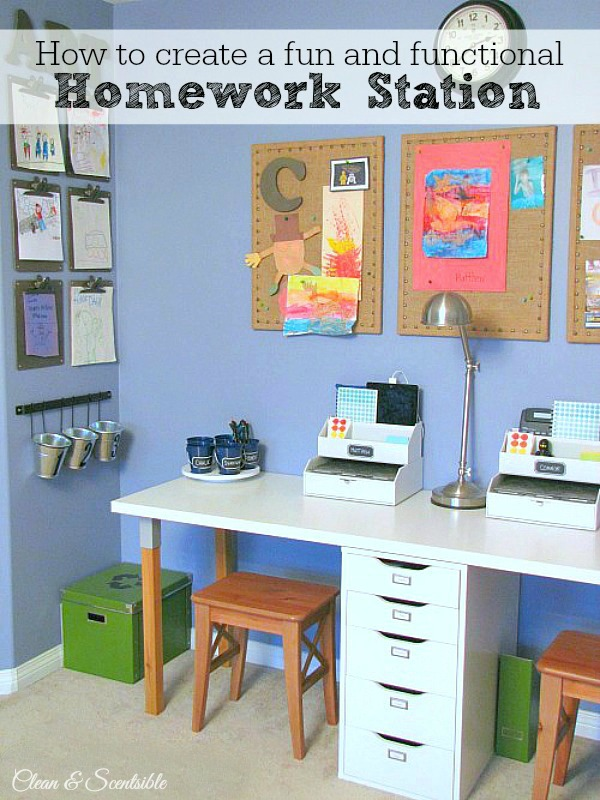 Kids Homework Station Clean And Scentsible