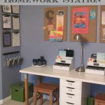Great ideas to help you create a kids' homework station!