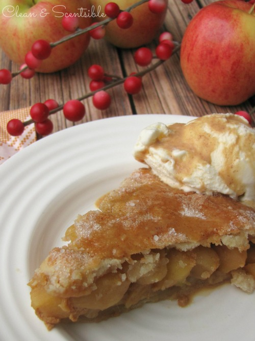 Salted Caramel Apple Pie.  This is SO good and make the perfect Thanksgiving or Christmas dessert!