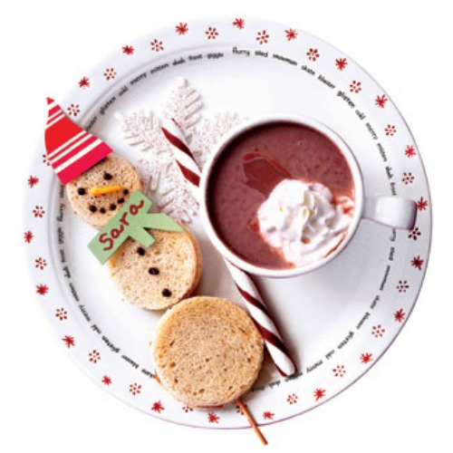 Snowman Sandwich and 20 other fun and healthy Christmas food ideas.