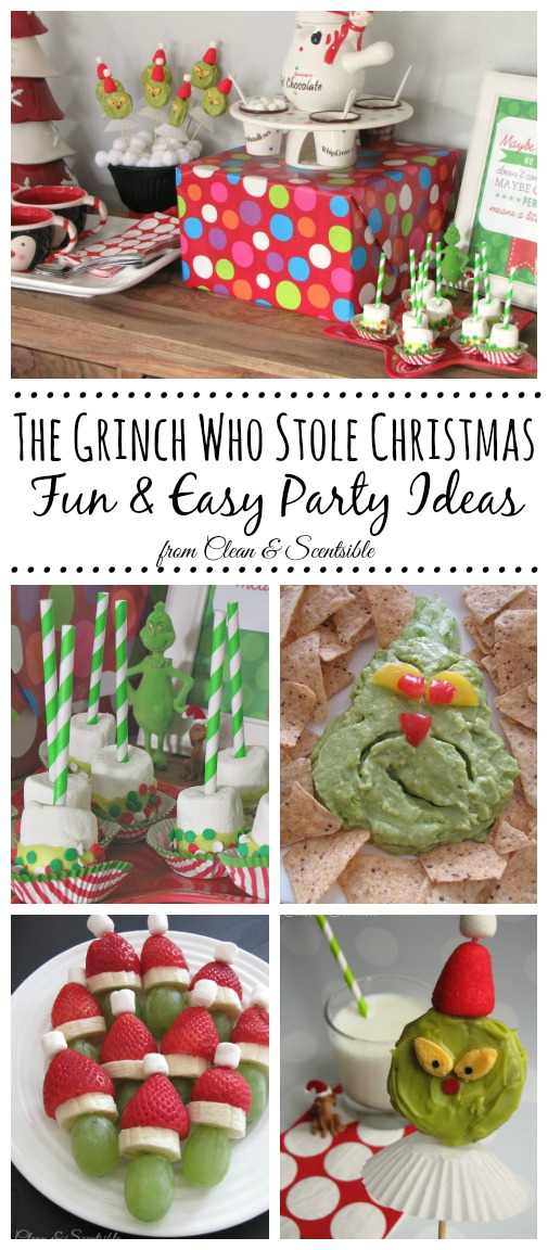 The Grinch Who Stole Christmas Party Ideas! Love this idea for a Grinch party! //cleanandscentsible.com