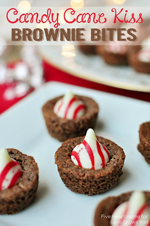 Candy Cane Kiss Brownie Bites and other Christmas recipes.