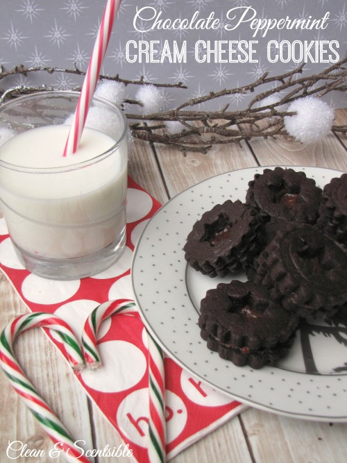 Chocolate Peppermint Cream Cheese Cookies.  These are amazing and a must for any chocolate lover!