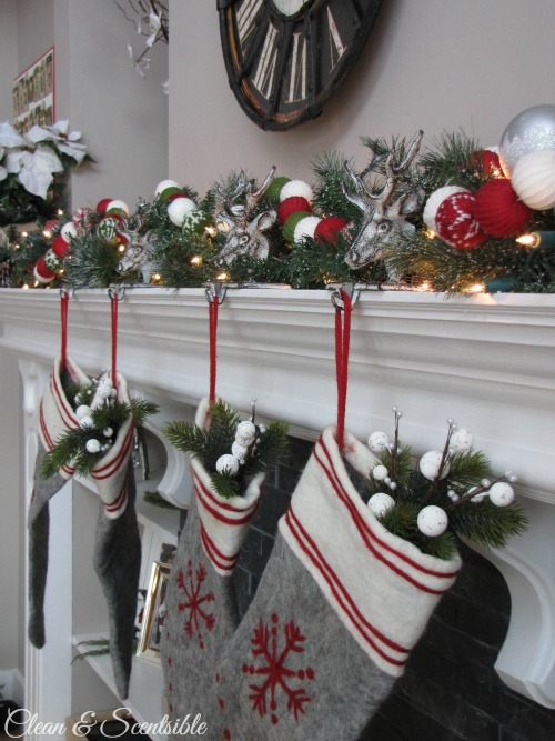Christmas Home Tour Christmas Mantel Clean And Scentsible