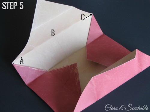 Paper treat box tutorial.  All you need is two pieces of paper!
