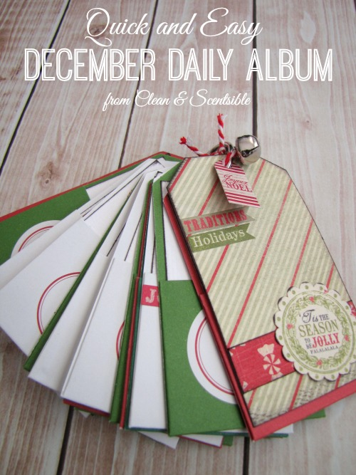 December Daily Album. This is such a quick and easy way to record all of the fun Christmas activities and memories that are created throughout the holiday season!
