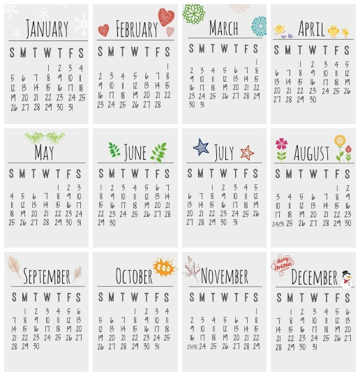 Free Printable 2014 Calendar - Clean and Scentsible