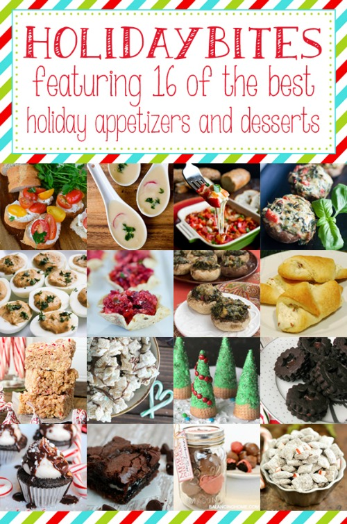 Lots of great appy and dessert recipes for holiday parties!