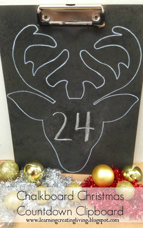 Chalkboard Christmas Countdown Calendar and other Christmas crafting ideas!