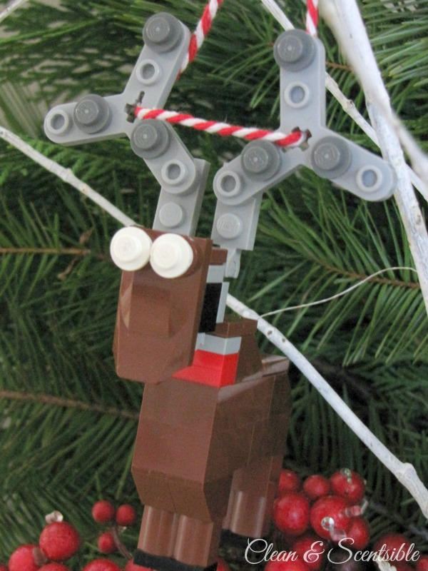 Create your own Lego ornaments with your kids to add to the tree.