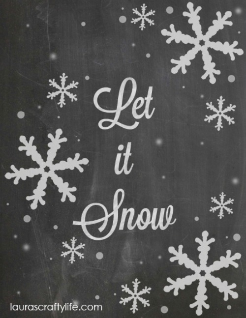 Let it Snow printable and other Christmas inspiration!