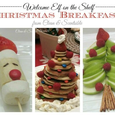 Quick and Easy Kids Christmas Breakfast - great for a Welcome Elf on the Shelf breakfast or special Christmas treat!