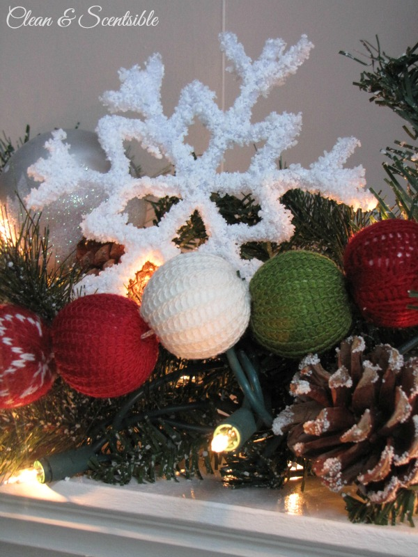 Frosted pipe cleaner snowflake ornaments clean and scentsible