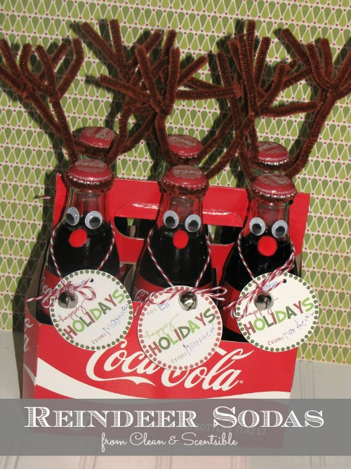 Reindeer Soda Bottles