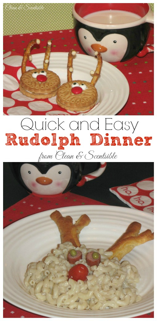 Quick and easy Rudolph Dinner - fun for a Christmas movie night!