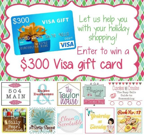 Enter for a chance to win a $300 Visa gift card!!