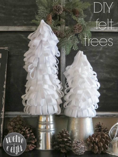 DIY Felt Christmas Trees and other Christmas craft ideas.