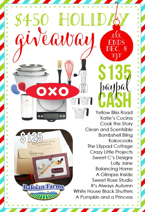Awesome Giveaway package valued at over $450!