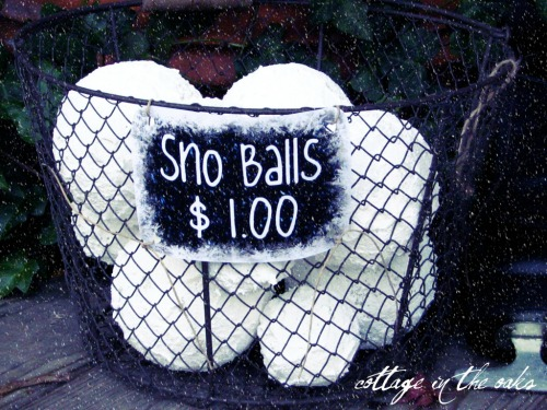 DIY Snowballs and other Christmas decor ideas.