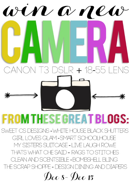 Win a Canon T3 DSLR Camera!