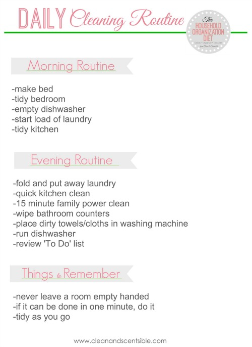 Developing A Daily Cleaning Routine