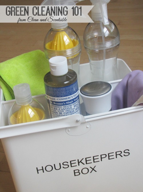Green Cleaning Tips 101 - Tips for getting started on a green cleaning routine!
