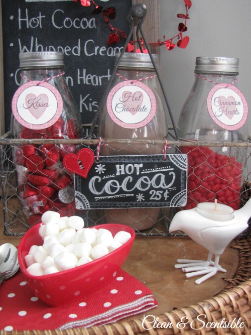 Fun Valentine's Day hot chocolate bar!