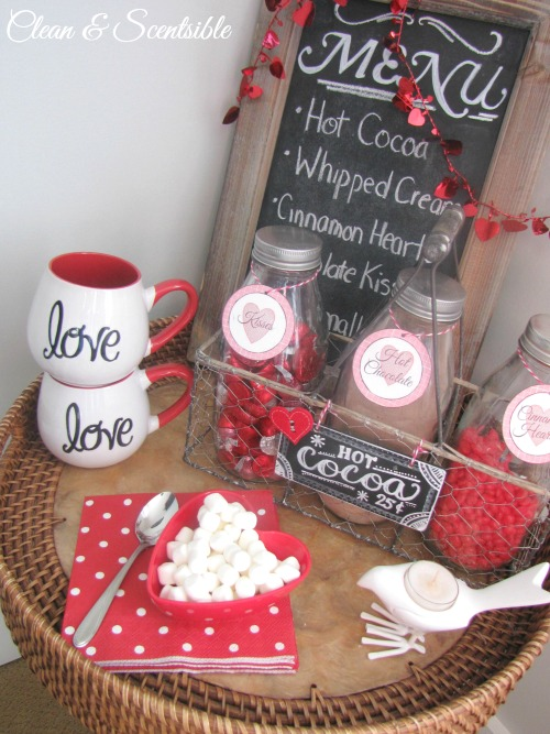 Valentine's Day hot chocolate bar.  This is SO cute!