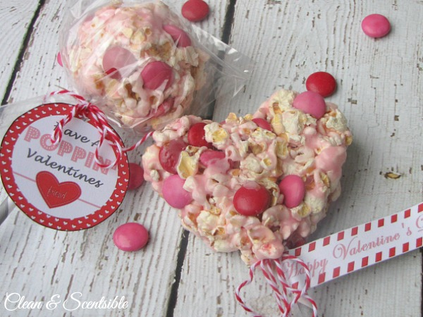 photograph about Popcorn Valentine Printable known as Popcorn Pops and Valentines Working day Printables - New and