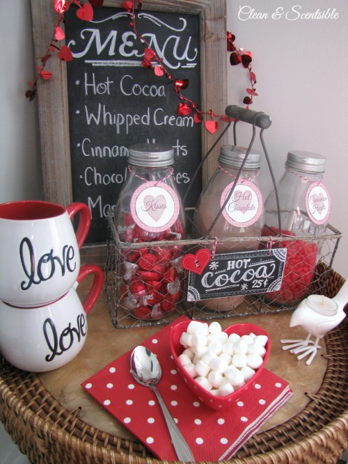 Sweet Valentine's Day hot chocolate bar!