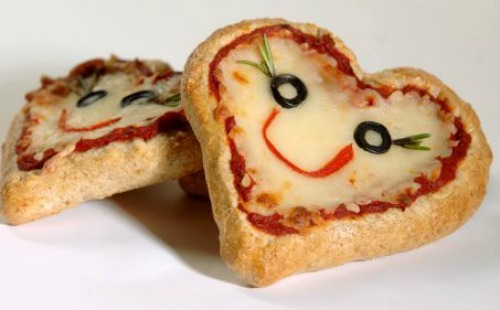 Valentine's Day pizza and lots of other healthy Valentine's Day food ideas.