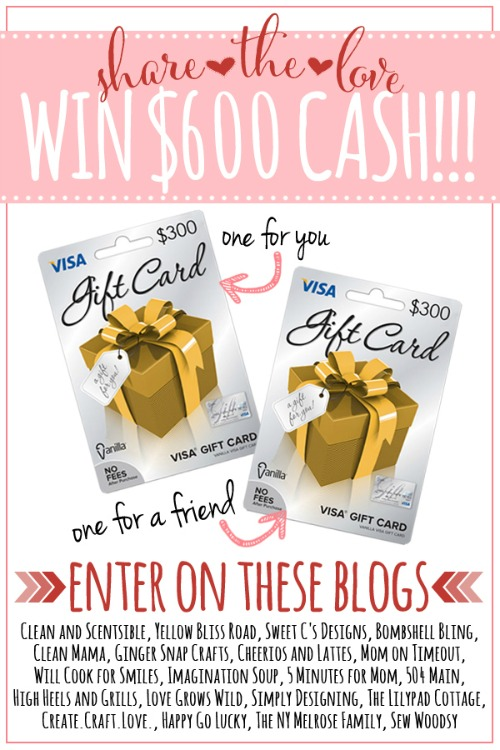 Visa Gift card giveaway - win $600 in Visa gift cards!