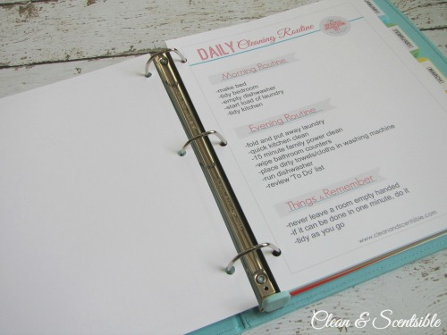 Everything you need to create a cleaning binder.  This is a great way to keep you on track!  Free printables included.