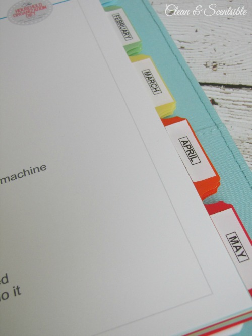 Everything you need to create a cleaning binder. Free printables included.