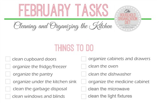How to Clean and Organize the Kitchen - Free printable