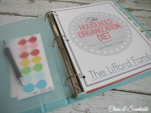 how to make a cleaning binder clean and scentsible
