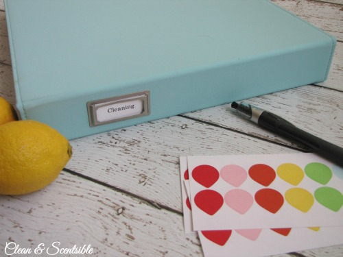 How to Make a Cleaning Binder