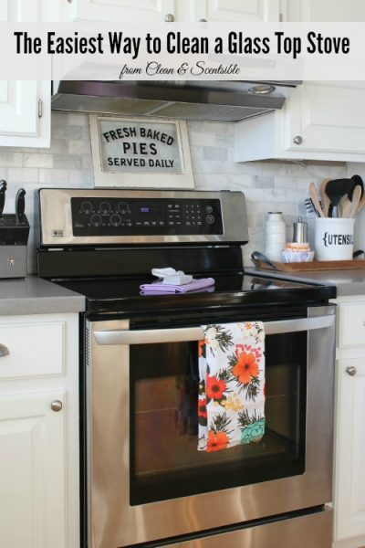 2 items are all you need to keep your glass top stove clean and sparkling!