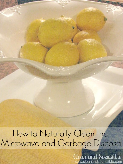How to naturally clean your microwave and garbage disposal.  So quick and easy!